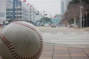 町中にあるボール