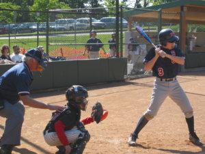 試合中の野球のグラウンド