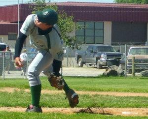 投球練習する右ピッチャー