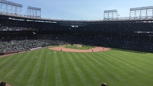 センターから見た野球場